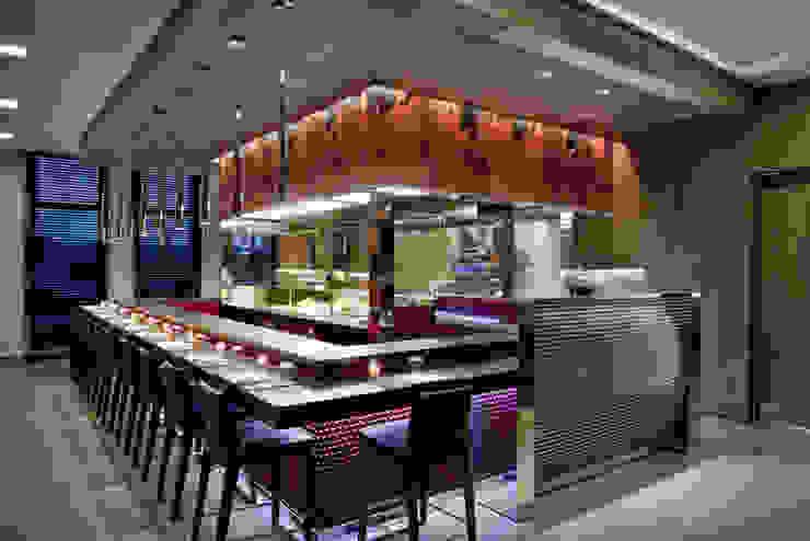 THotel Brescia, show kitchen Hotel moderni di Studio Simonetti Moderno