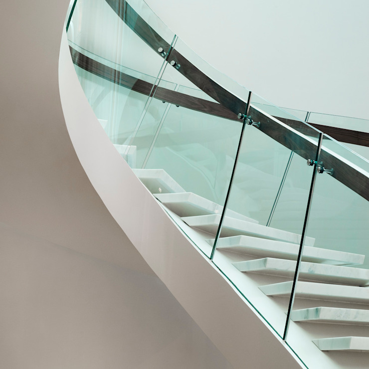 TransParancy by EeStairs® - Glass balustrades EeStairs | Stairs and balustrades 玄關、走廊與階梯階梯