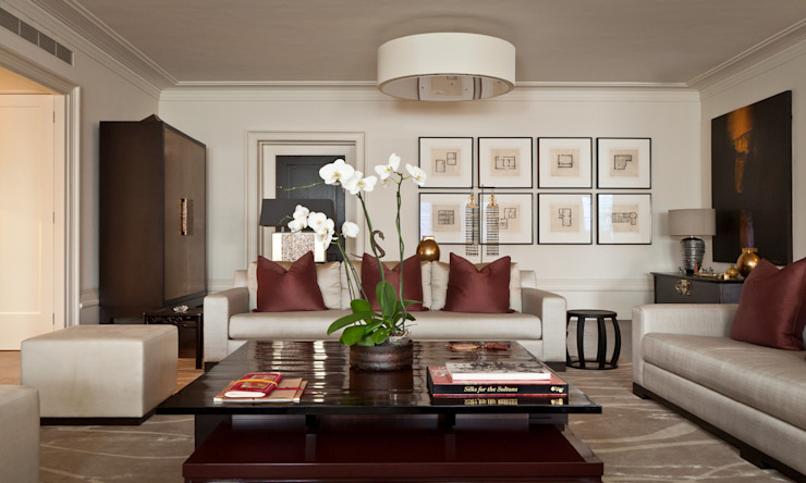 Modern Living room with an Asian Touch Salones de estilo moderno de Rosangela Photography Moderno