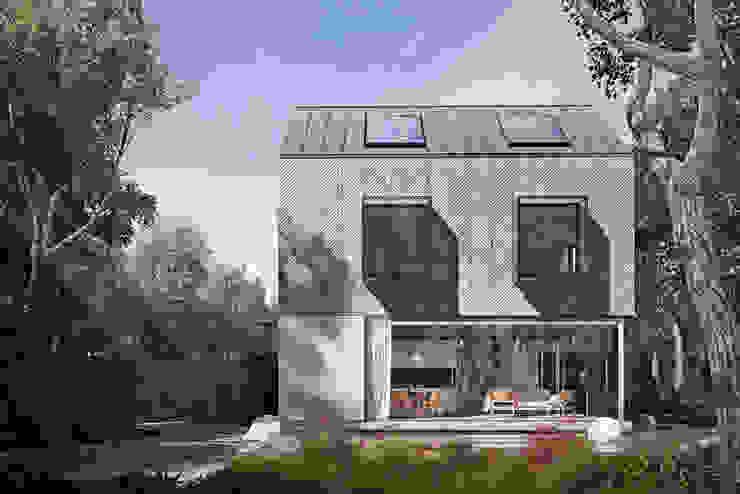Exterior Casas modernas por homify Moderno