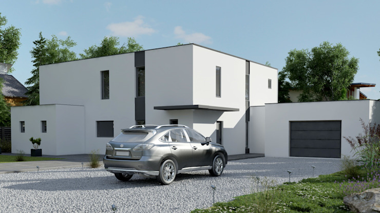 SOLUTION 3D EN ARCHITECTURE: Maisons de style  par DEC-DESIGN,
