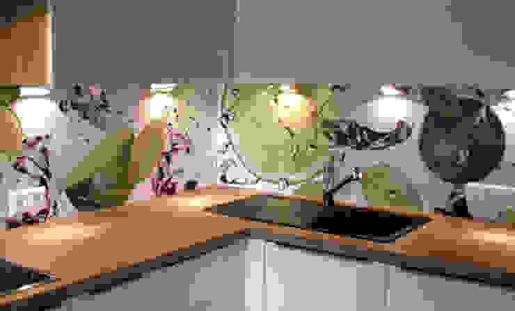 Küchenrückwand mit Lime & Ice: modern  von Schön und Wieder,Modern