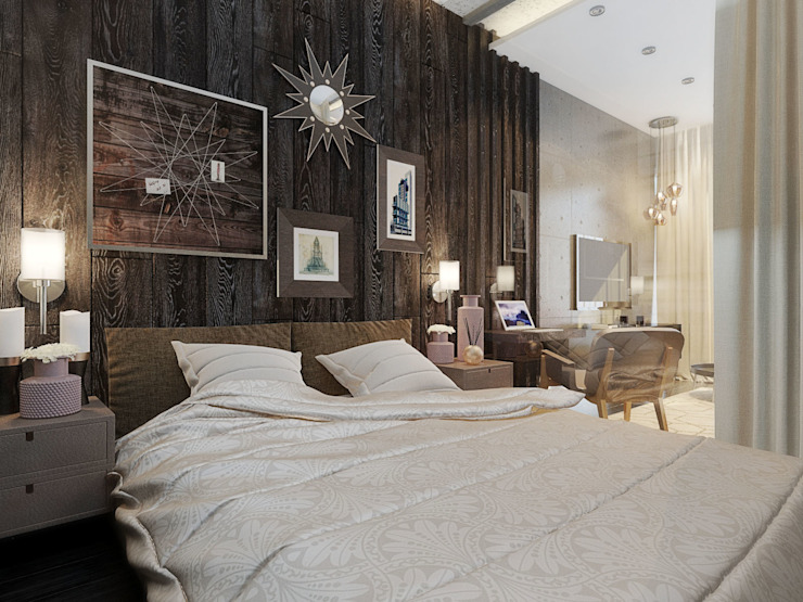 Industrial style bedroom by Александра Петропавловская Industrial