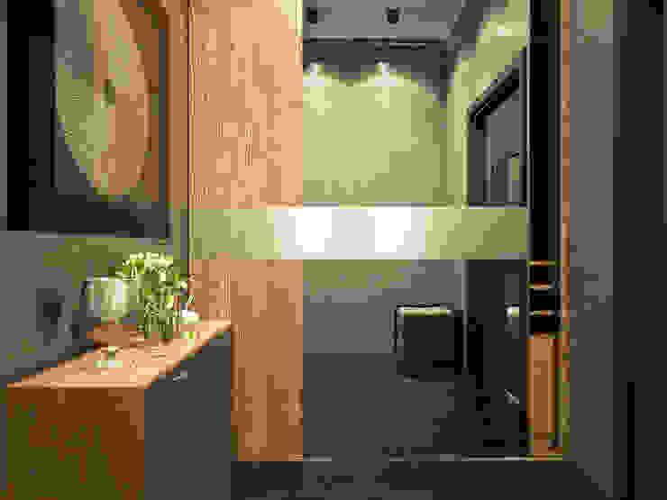 Александра Петропавловская Ingresso, Corridoio & Scale in stile minimalista