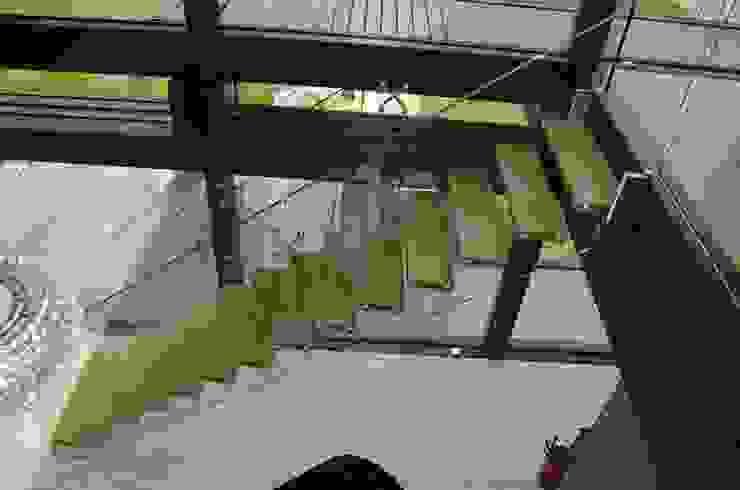 Frei stehende Glastreppe : modern  von Siller Treppen/Stairs/Scale,Modern