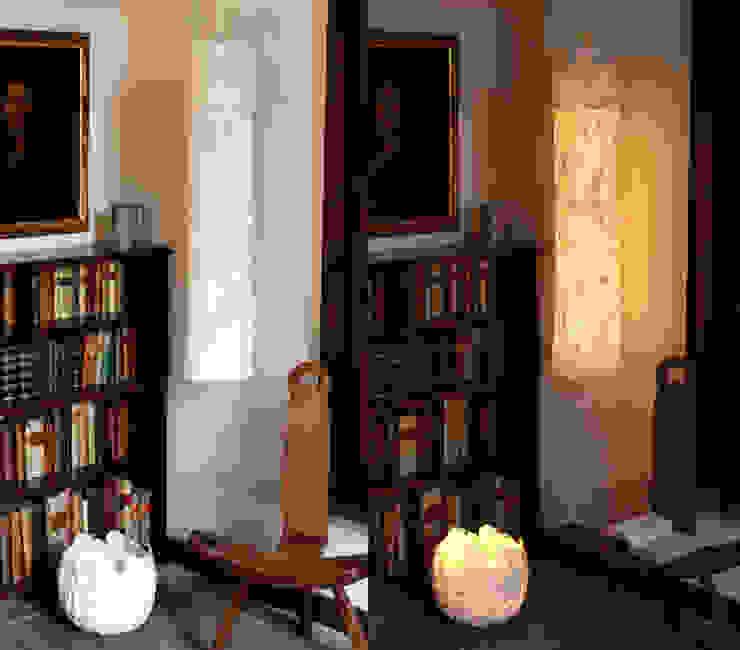 Uovo Table and Floor Lamp in felt di Judith Byberg Scandinavo