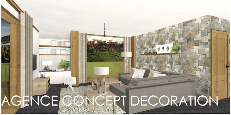 agencement général d'un appartement de montagne Maisons par agence concept decoration