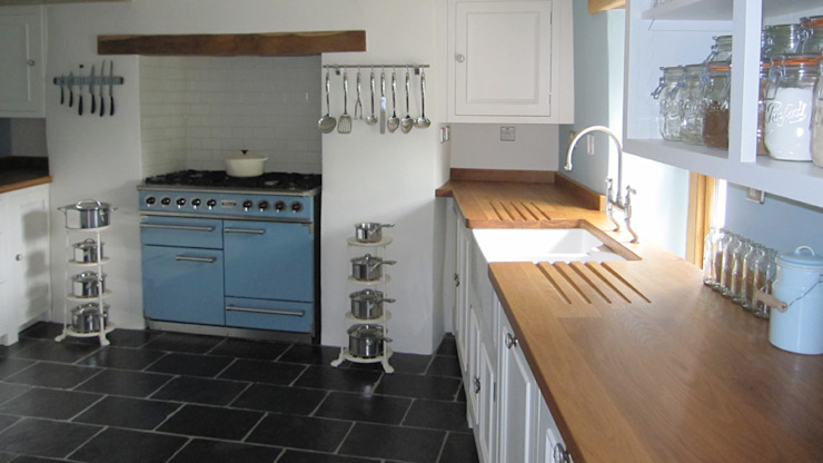 Oak Worktops Cocinas de estilo rural de Norfolk Oak Rural