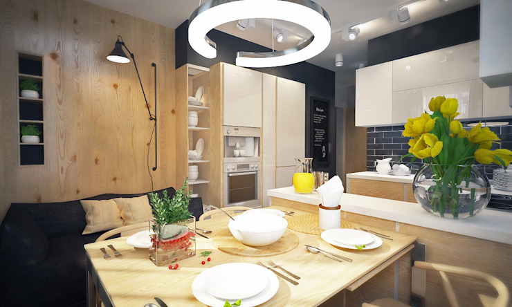 Александра Петропавловская Scandinavian style kitchen