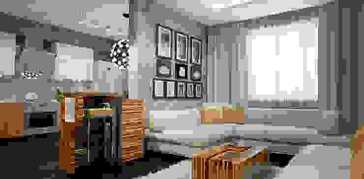 Livings de estilo minimalista de Александра Петропавловская Minimalista