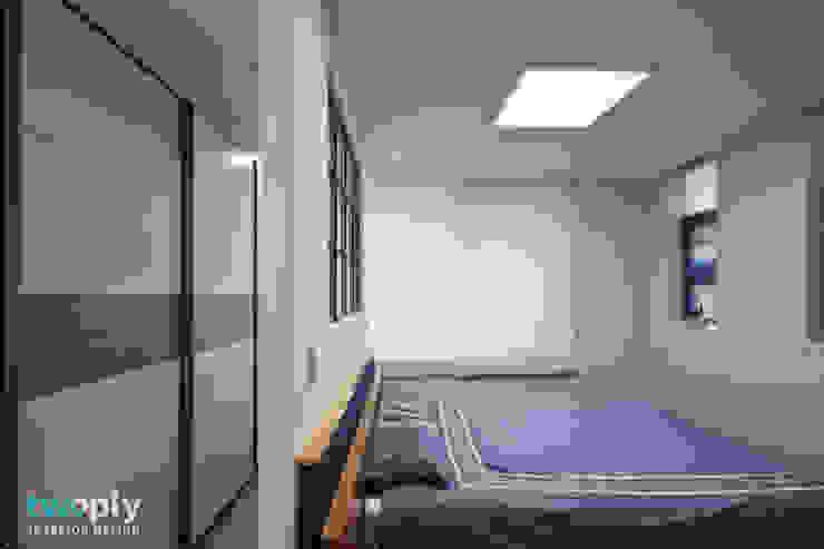 가족을 위한 단독주택 모던스타일 침실 by 디자인투플라이 모던