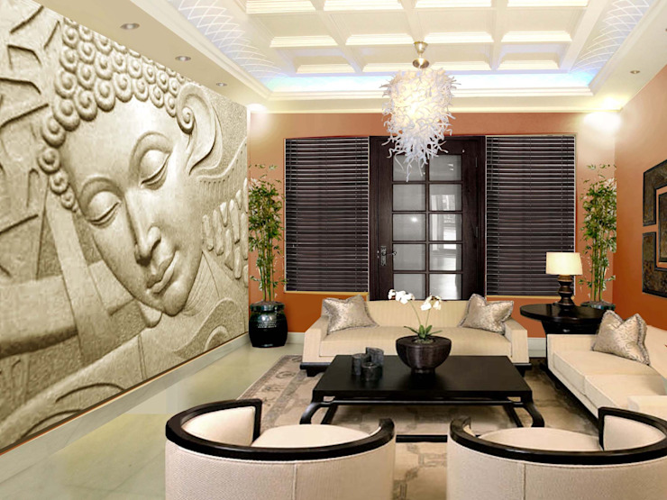 Villa at new delhi por Orchid Interiors Asiático