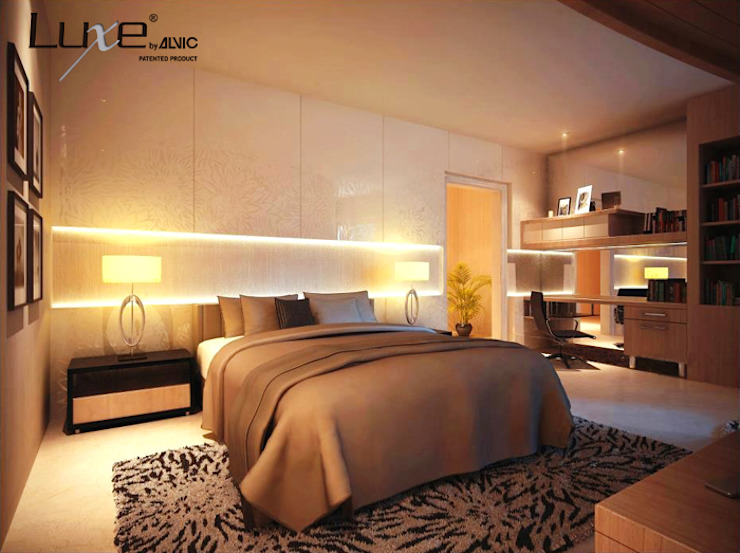 Muebles de dormitorio en alto brillo Luxe by Alvic. de ALVIC Moderno
