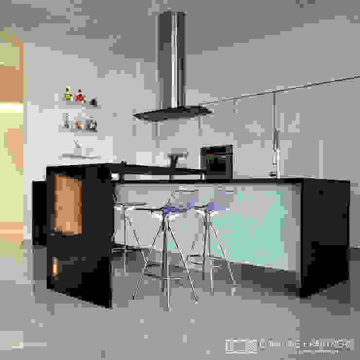 Modern Kitchen by CORFONE + PARTNERS studios for urban architecture Modern