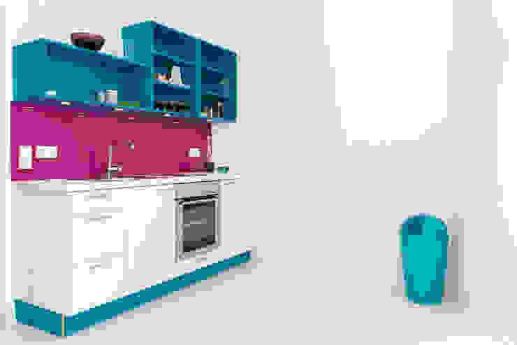 Wohnwert Innenarchitektur 廚房收納櫃與書櫃