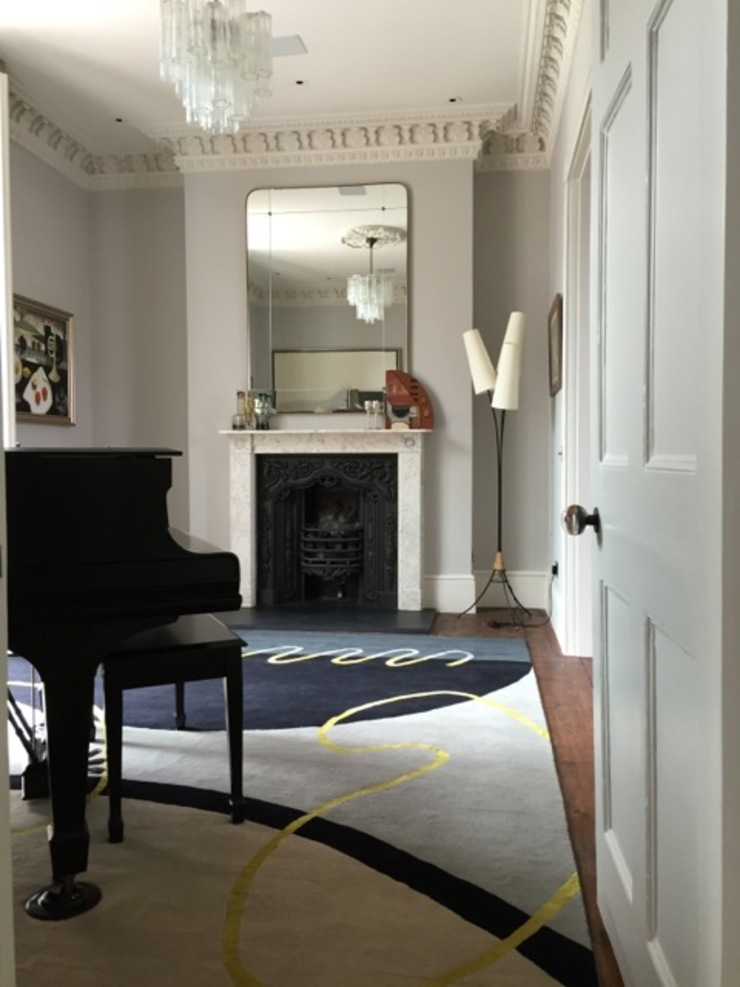 Deirdre Dyson GEO-SPRING rug in a Surrey Music Room Deirdre Dyson Carpets Ltd Walls & flooringWall & floor coverings