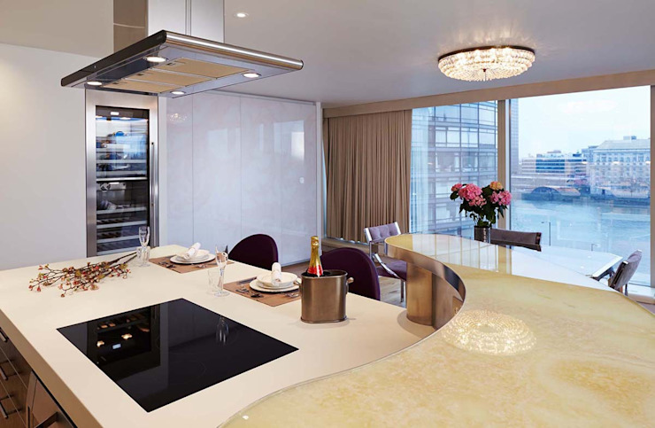 Penthouse Interior Design, River Thames, London Residence Interior Design Ltd Modern kitchen