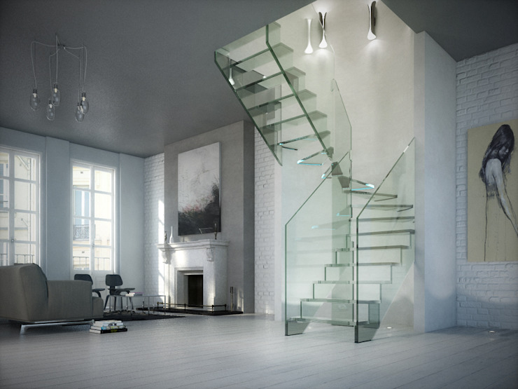 Innovations with glass - the staircase model LONDRA by Siller Treppen/Stairs/Scale Modern Glass