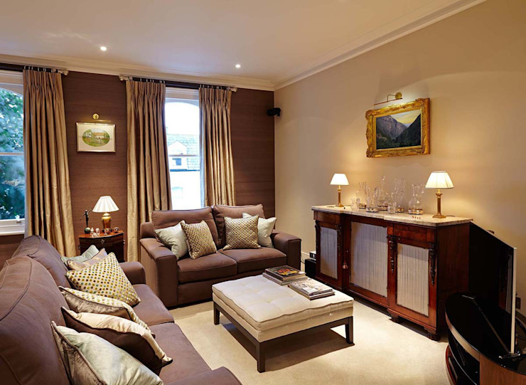 Townhouse Interior Design, Putney Bridge, London Modern houses by Residence Interior Design Ltd Modern