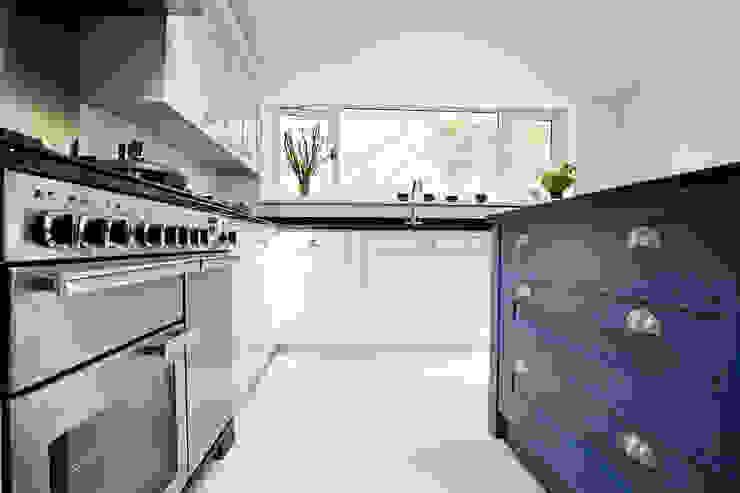 Blue & Grey shaker kitchen Modern kitchen by homify Modern