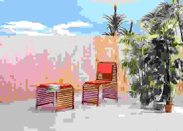 Chaise et banc Waves par Nicolas Douard Moderne