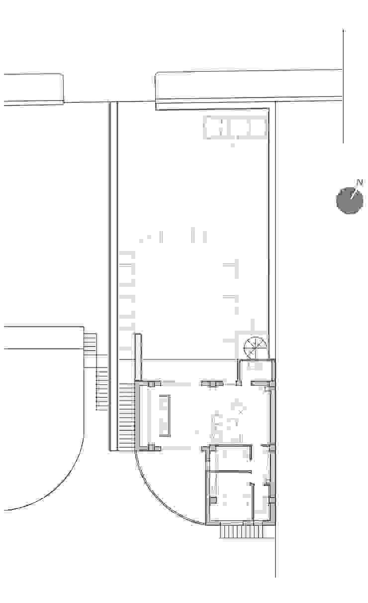 GRAZIANIDICEMBRINO CASA G+P pianta esterni Case in stile minimalista di GRAZIANI & DICEMBRINO Minimalista
