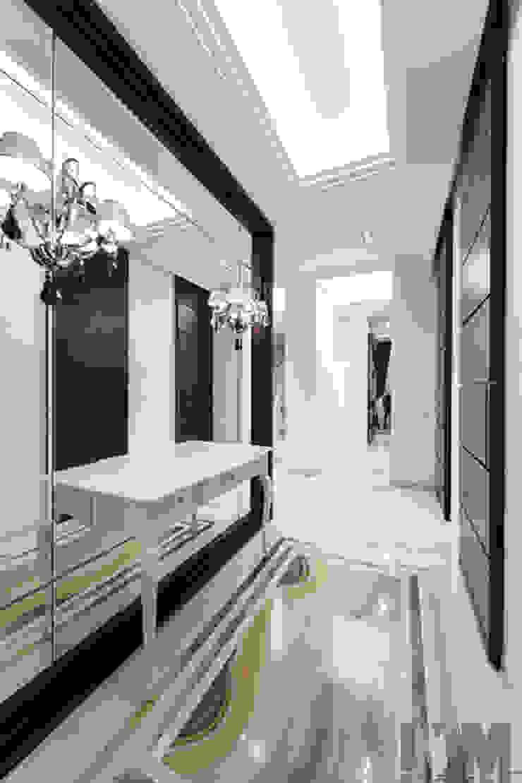Просетлённый ар-деко Коридор, прихожая и лестница в классическом стиле от ММ-design Классический