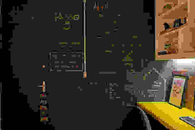 インダストリアルデザインの 書斎 の Passo3 Arquitetura インダストリアル