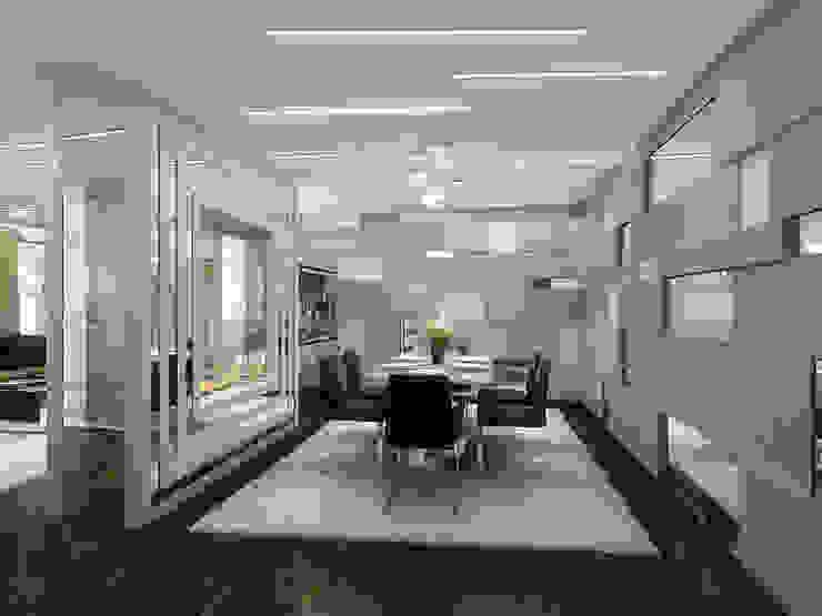 Уют минимализма Столовая комната в стиле минимализм от ММ-design Минимализм