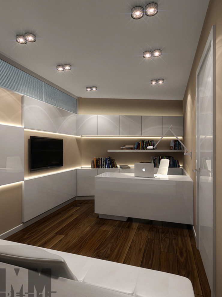 Уют минимализма Рабочий кабинет в стиле минимализм от ММ-design Минимализм