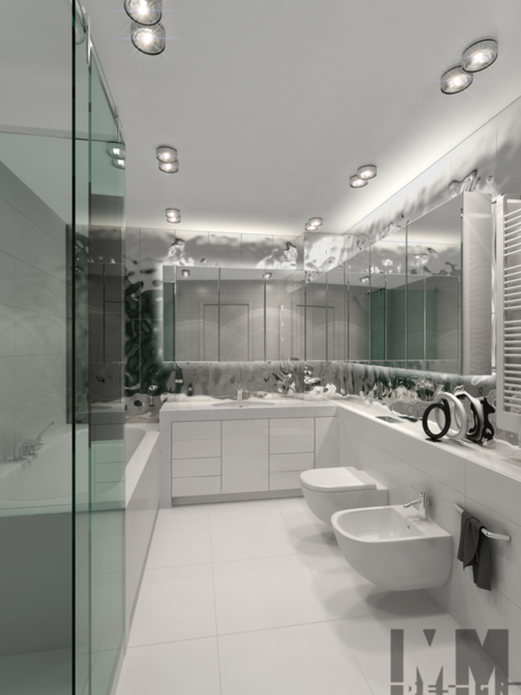 Уют минимализма Ванная комната в стиле минимализм от ММ-design Минимализм