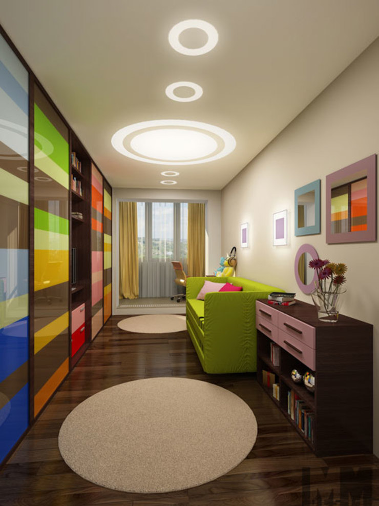 В круге света Детская комнатa в стиле минимализм от ММ-design Минимализм