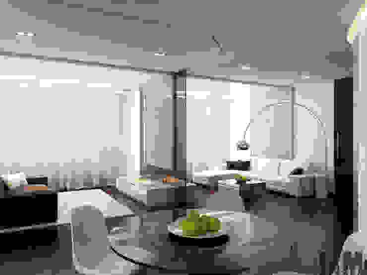 Квартира для холостяка Гостиная в стиле минимализм от ММ-design Минимализм