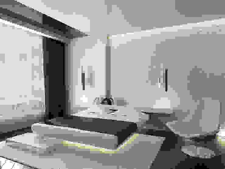 Квартира для холостяка Спальня в стиле минимализм от ММ-design Минимализм