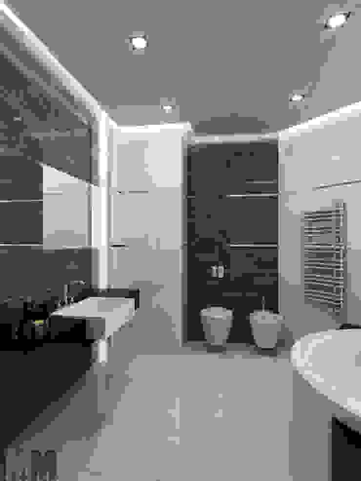 Квартира для холостяка Ванная комната в стиле минимализм от ММ-design Минимализм