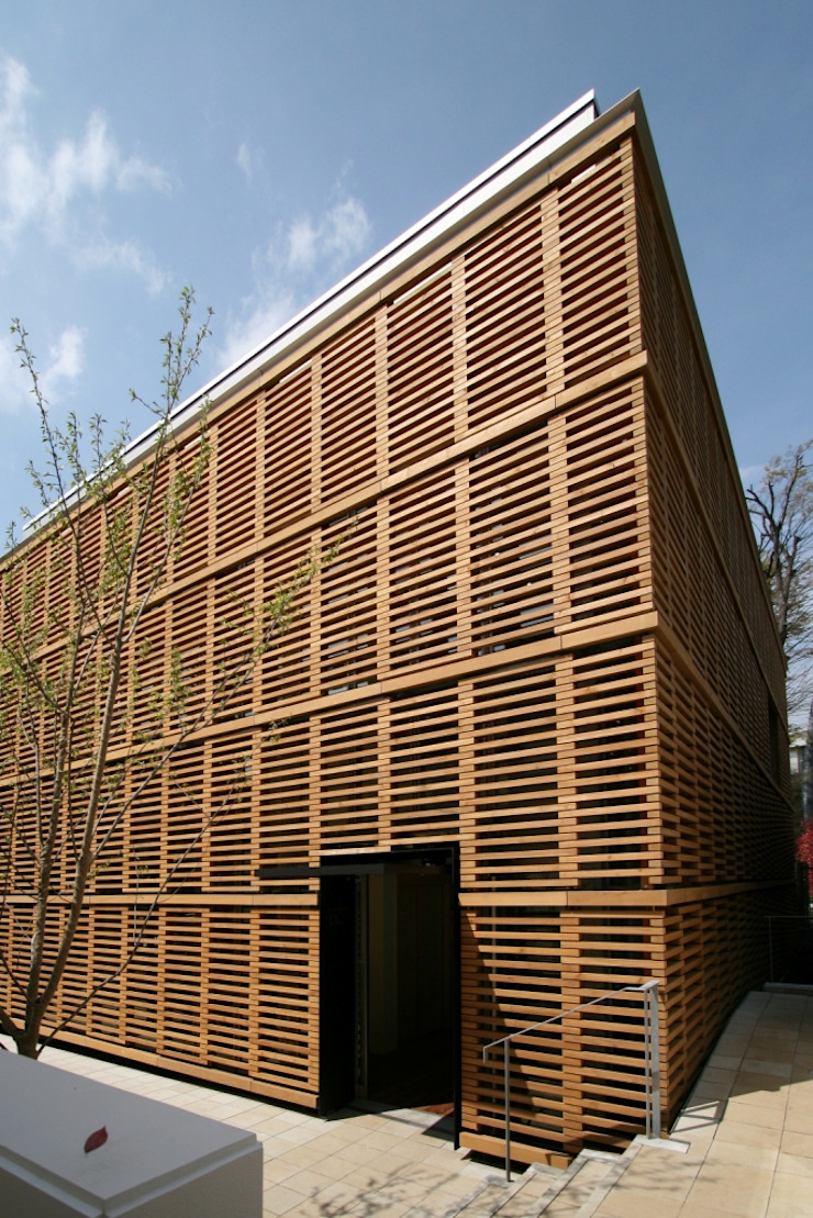 Wooden Box/Building 13th of Meiji Gakuin Un iversity 根據 Yoshiharu Shimazaki Architect Studio,INC 現代風