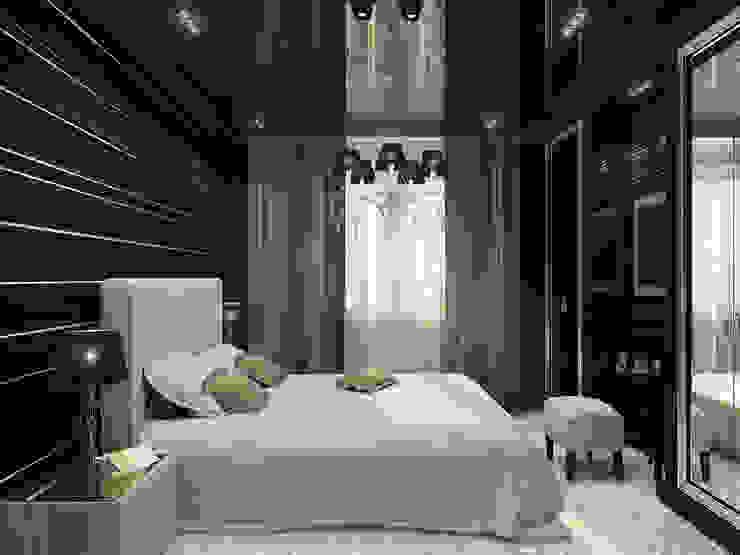 Фьюжн в черно-белом Спальня в классическом стиле от ММ-design Классический