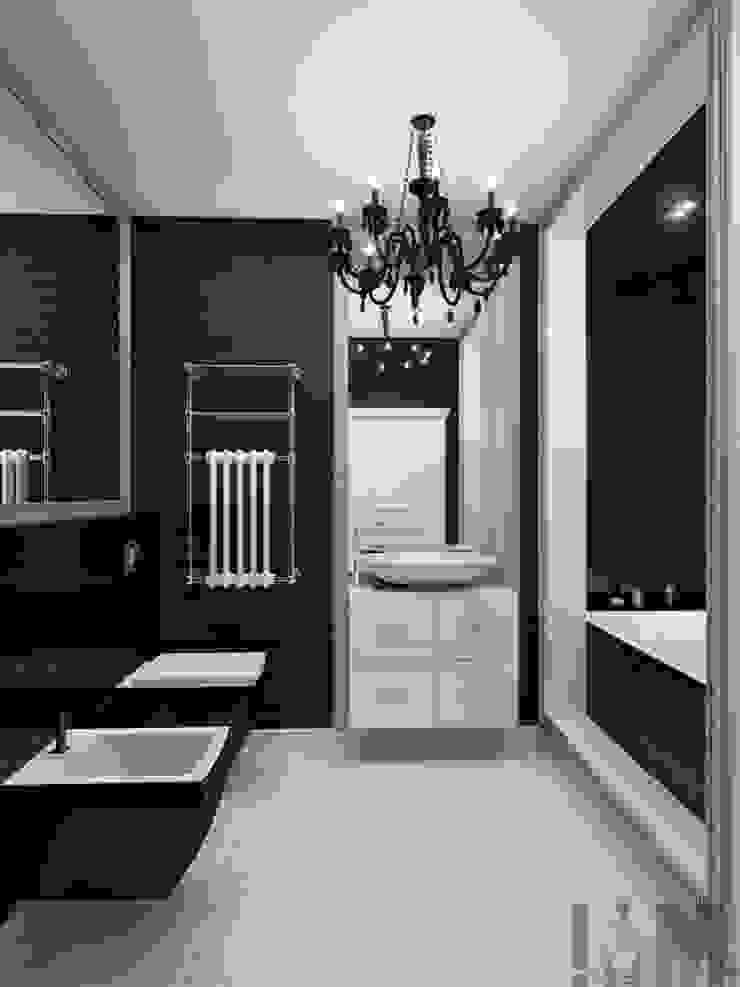 Фьюжн в черно-белом Ванная в классическом стиле от ММ-design Классический