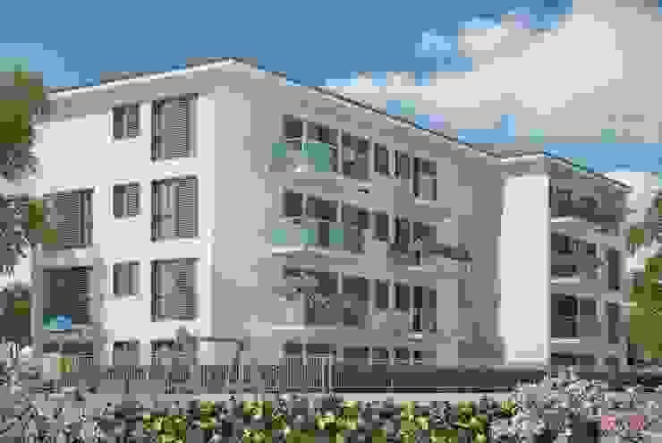 Nuovo edificio residenziale in edilizia convenzionata di Studio Guzzo & Partner Minimalista