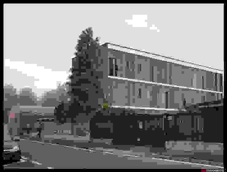 Edificio residenziale via Guardi Cinisello B.mo di Studio Guzzo & Partner Minimalista