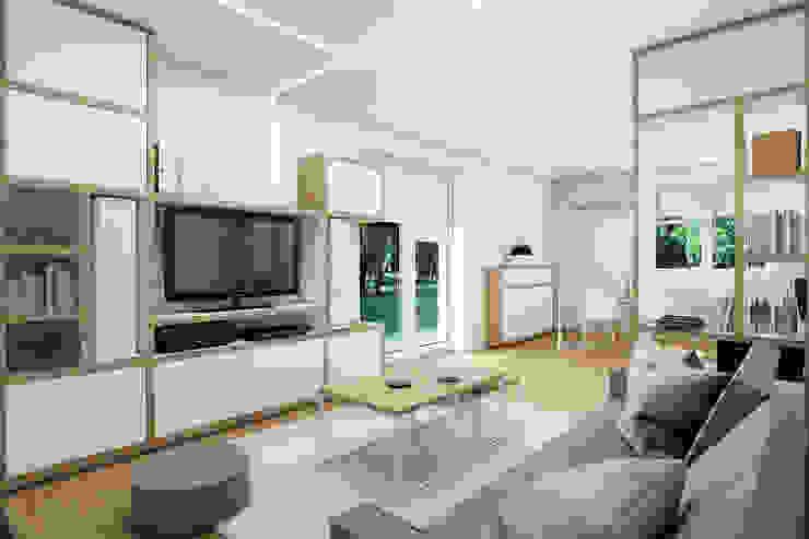 Dom w Mikołowie Nowoczesny salon od musk collective design Nowoczesny