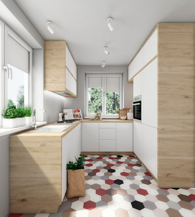 Dom w Mikołowie Nowoczesna kuchnia od musk collective design Nowoczesny