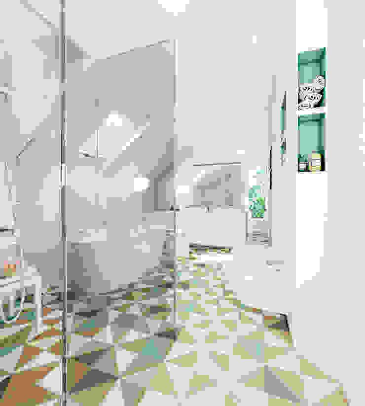 Dom w Mikołowie Nowoczesna łazienka od musk collective design Nowoczesny
