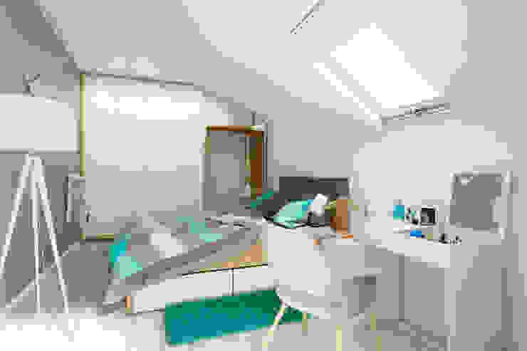 Dom w Mikołowie Nowoczesna sypialnia od musk collective design Nowoczesny