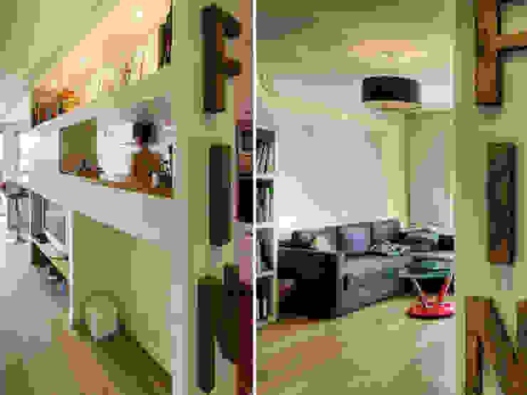PRES DU MARCHE LA CHAPELLE Salon moderne par EC Architecture Intérieure Moderne