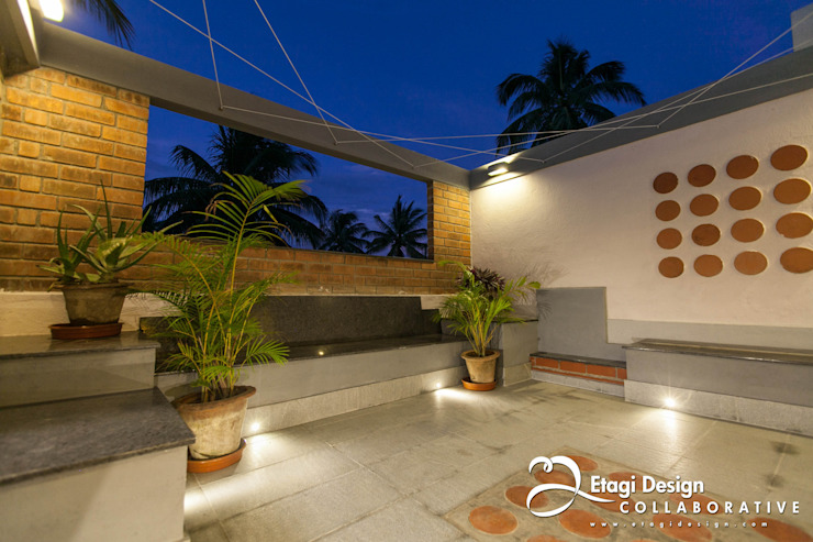 Before & After_Terrace Garden & Family Room for Kubsad Family at Bangalore, India. by Etagi Design Collaborative Asian