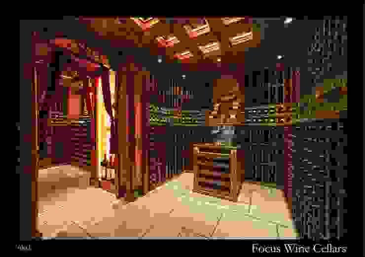 Residential Cellar in HoManTin, Hong Kong par Focus Wine Cellars Classique