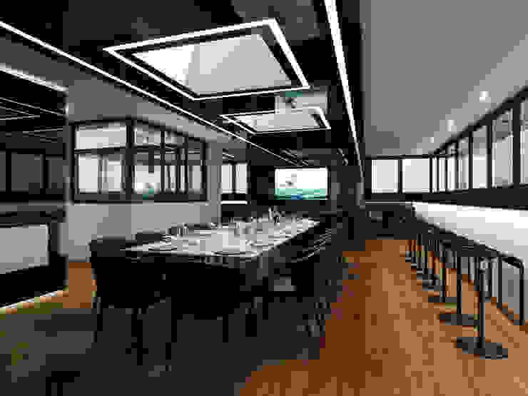Чёрная лента Столовая комната в стиле минимализм от ММ-design Минимализм