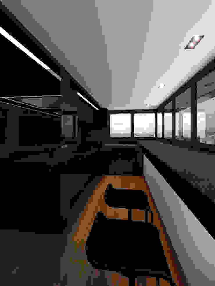 Чёрная лента Кухня в стиле минимализм от ММ-design Минимализм
