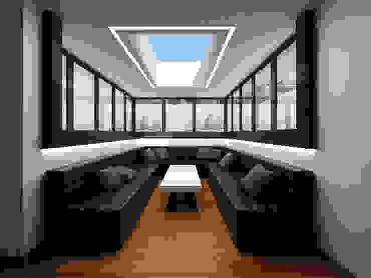 Чёрная лента Медиа комната в стиле минимализм от ММ-design Минимализм